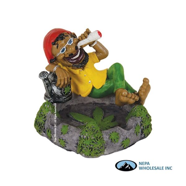 Jamaican LT122 Poly Resin Ashtray 1CT