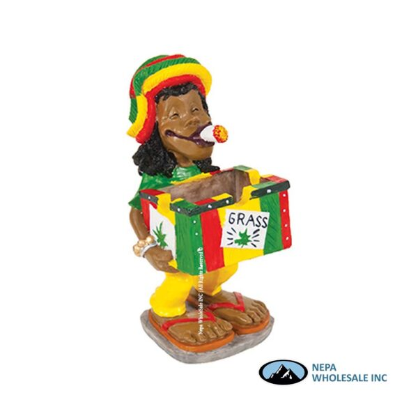 Jamaican LT124 Poly Resin Ashtray 1CT