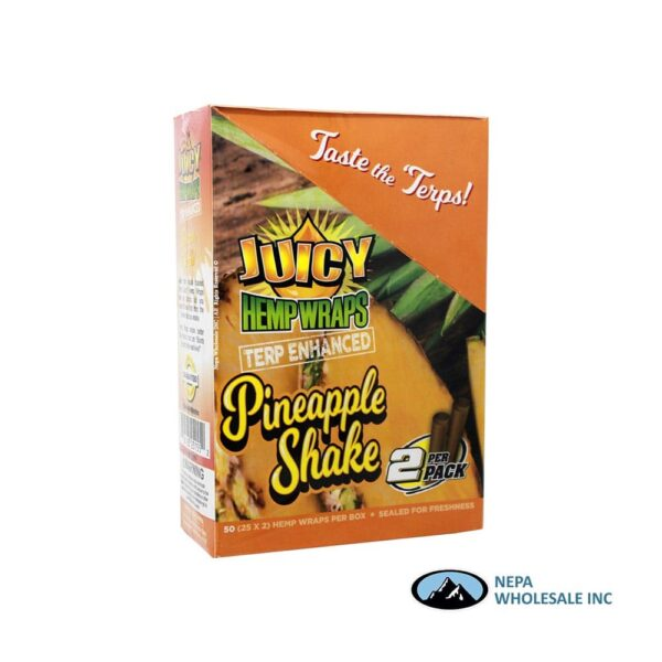 Juicy Hemp Wraps25-2PK Pineapple Shake