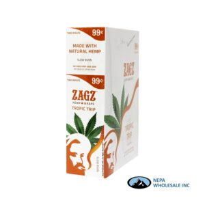 Zagz 2 for $0.99 Tropica Trip Hemp Wraps