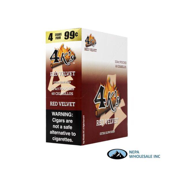 GT 4 Kings Red Velvet 4 for $0.99 15 PK