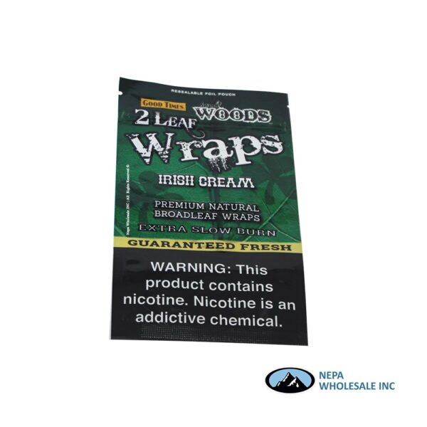Sweet Woods 2-30CT Wraps Irish Cream