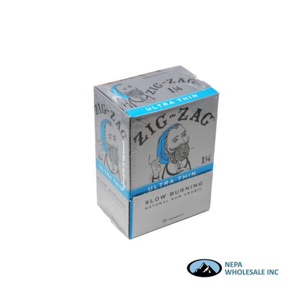 Zig Zag 11/4 Rolling Papers Ultra Thin 48 Booklets Dump Bin