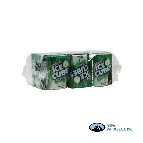 Ice Breakers 6-40CT Spearmint Cube Bottles