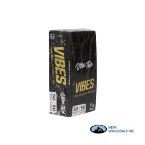Vibes Ultra Thin 1 1/4 Black 50 Booklets Per Box