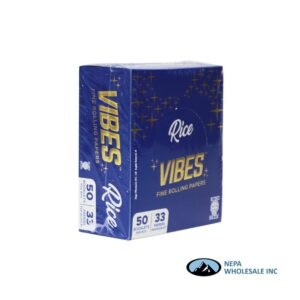 Vibes Rice King Size Blue 50 Booklets Per Box