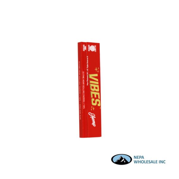 Vibes Hemp King Size Red 24 Booklets Per Box