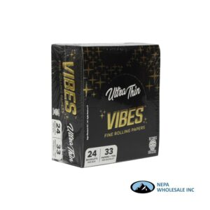 Vibes Ultra Thin King Size Black 24 Booklets Per Box
