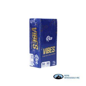 Vibes Rice 1 1/4 Blue 50 Booklets Per Box