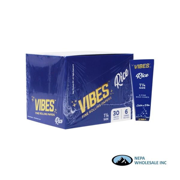 Vibes Rice 1 1/4 Blue Cones 30 Packs Per Box