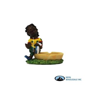Jamaican Poly Resin Ashtray LT120