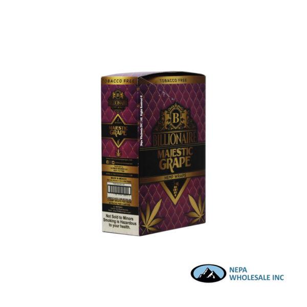 Billionaire 2-25PK Majestic Grape Hemp Wraps