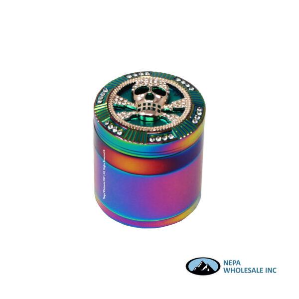 Grinder Rainbow Color 3D Pattern 63mm (GR158-63OPRB)