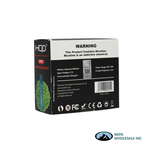 HQD Maxim Disposable 5% Green Bean 1x20PK
