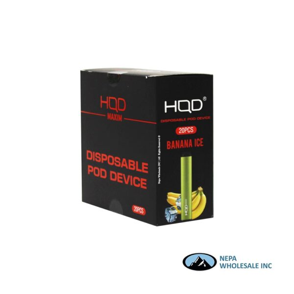HQD Maxim Disposable 5% Banana Ice 1x20PK