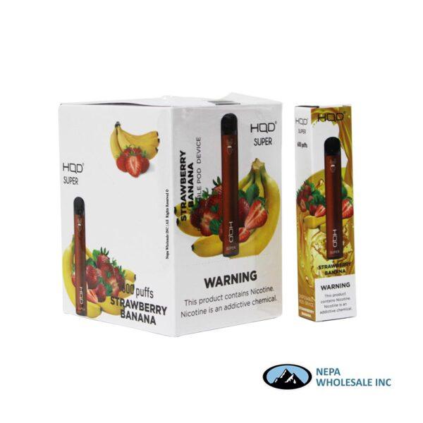 HQD Super Disposable 5% Strawberry Banana 15PK