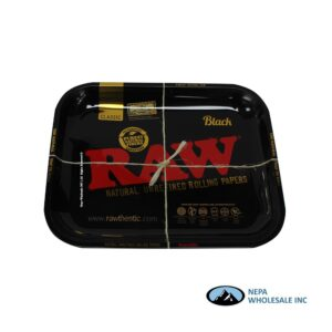 Raw Metal Tray Large 1 CT Black