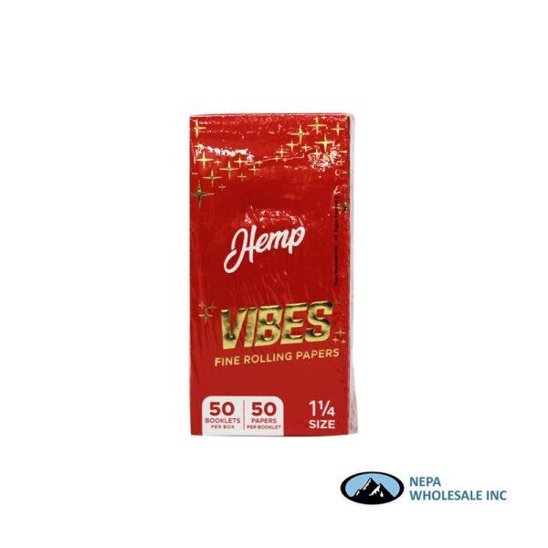 Vibes Hemp 1 1/4 Red 50 Booklets Per Box