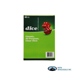 Dice Clear 48pc Display