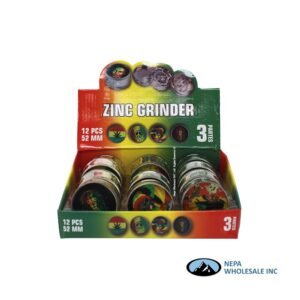 Grinder 3 Parts Rasta Design 52mm