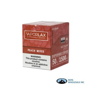 Vaporlax Disposable 5% Peach Mixes 10PK