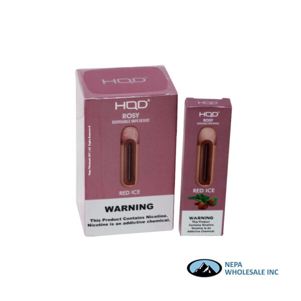 HQD Rosy Disposable 5% Red Ice 8PK