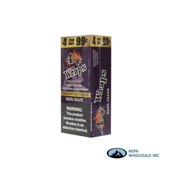 4 K's Wraps 30-4CT Napa Grape