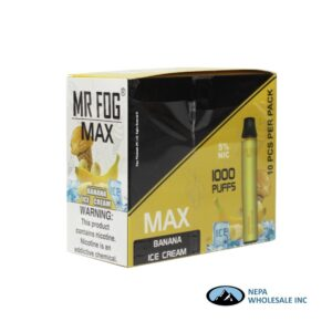 Mr Fog Max 5% Banana Ice Cream 10PK