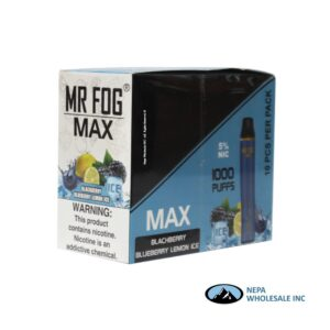 Mr Fog Max 5% Blackberry Blueberry Lemon Ice 10PK