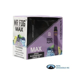 Mr Fog Max 5% Grape Blue Raspberry Lemon Ice 10PK
