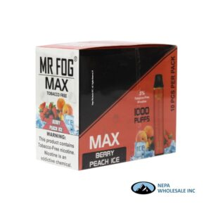 Mr Fog Max 5% Berry Peach Ice 10PK