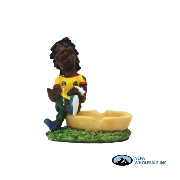 Jamaican Poly Resin Ashtray LT120