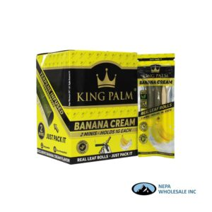 King Palm Flavors 2 Mini Rolls Banana Cream 20CT