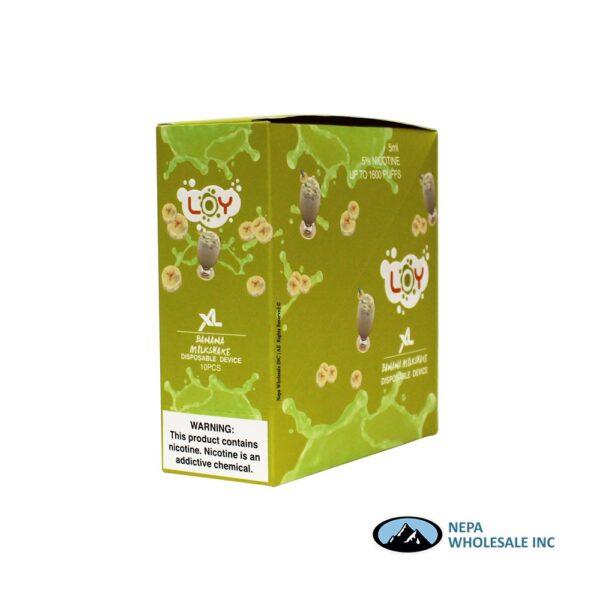 Loy XL 5% Banana Milkshake 1X10PK Disposable
