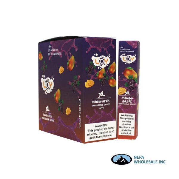 Loy XL 5% Mango Grape 1X10PK Disposable