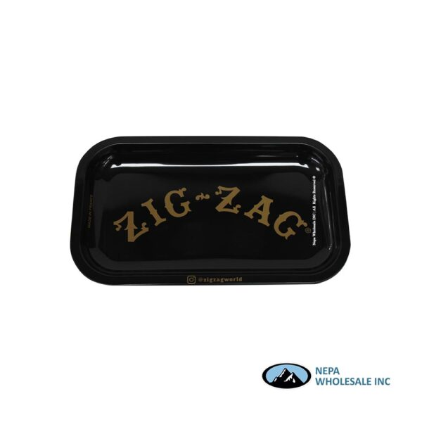 Zig Zag Rolling Tray Small 1CT Black