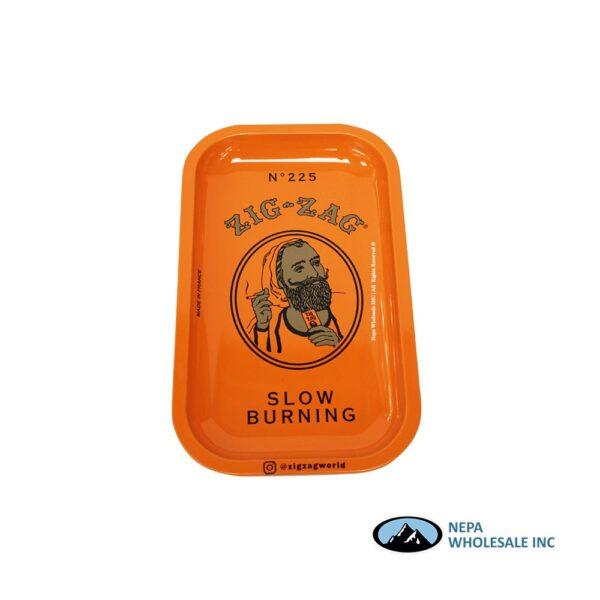 Zig Zag Rolling Tray Small 1CT Orange