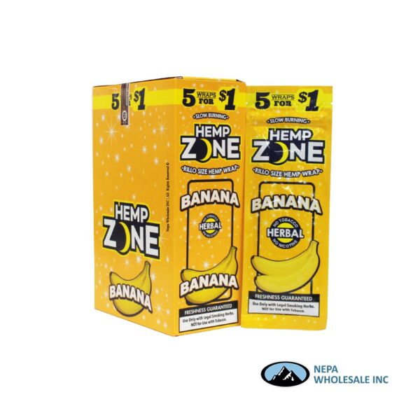 Hemp Zone 5 for $0.99 Banana 15CT