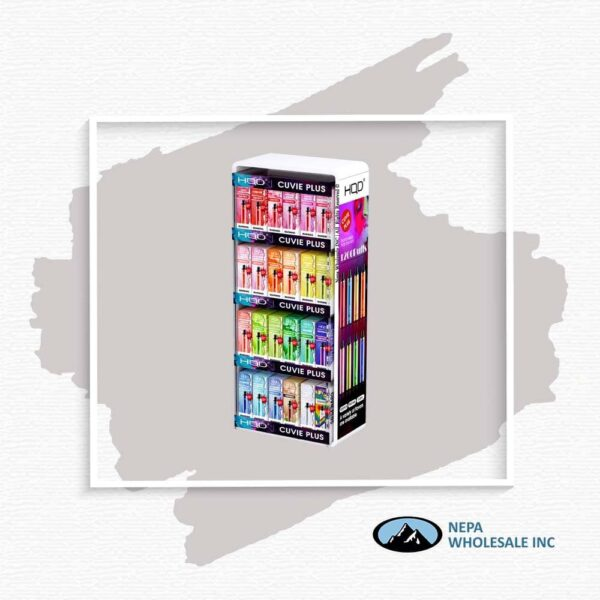 HQD Display with 144pc Assorted Cuvie Plus 1CT
