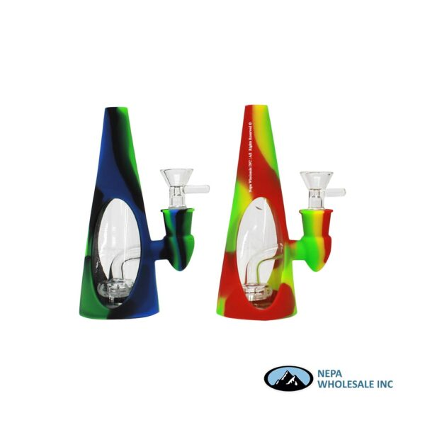 Pipe water 6 inch Silicon/Glass Cone Single Perc.