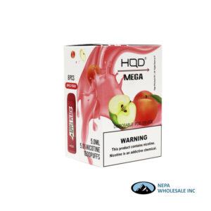 HQD Mega 5% Apple Peach 1X8PK Disposable
