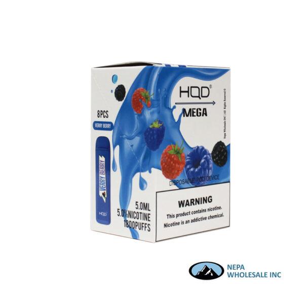 HQD Mega 5% Verry Berry 1X8PK Disposable