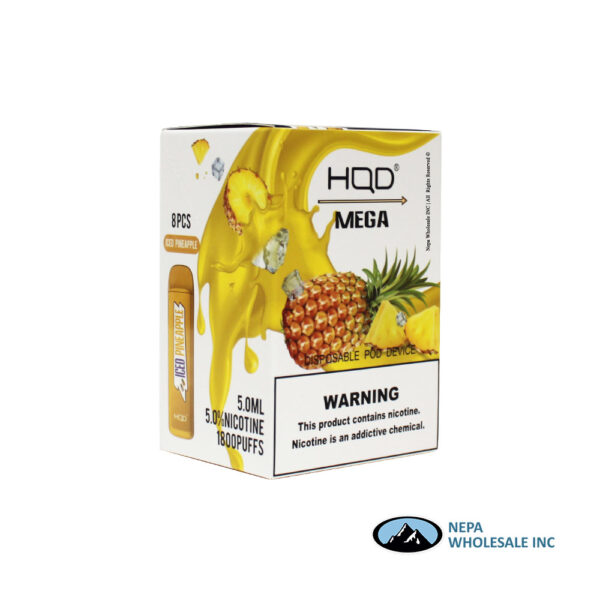 HQD Mega 5% Iced Pineapple 1X8PK Disposable