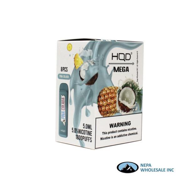 HQD Mega 5% Pina Colada 1X8PK Disposable