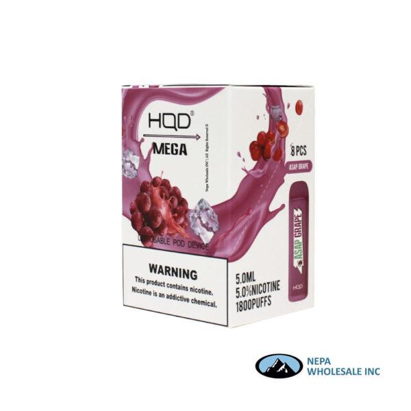 HQD Mega 5% Asap Grape 1X8PK Disposable