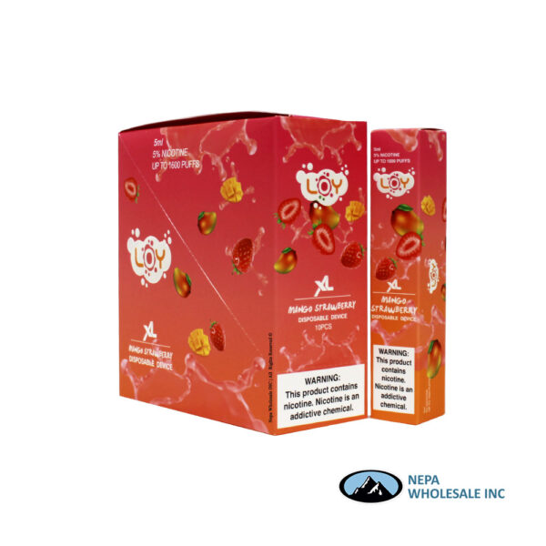 Loy XL 5% Mango Strawberry 1X10PK Disposable