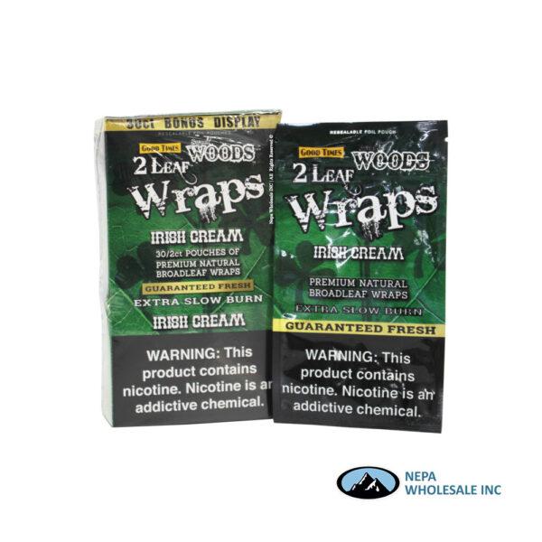 Sweet Woods 2-30CT Wraps Irish Cream
