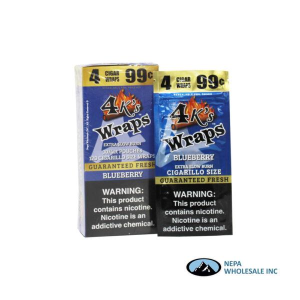 4 K's Wraps 30-4CT Blueberry