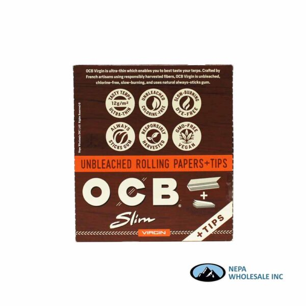 OCB Virgin Slim + Tips 24 Booklets