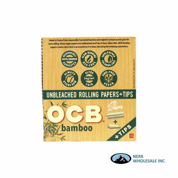 OCB Bamboo Slim + Tips 24 Booklets